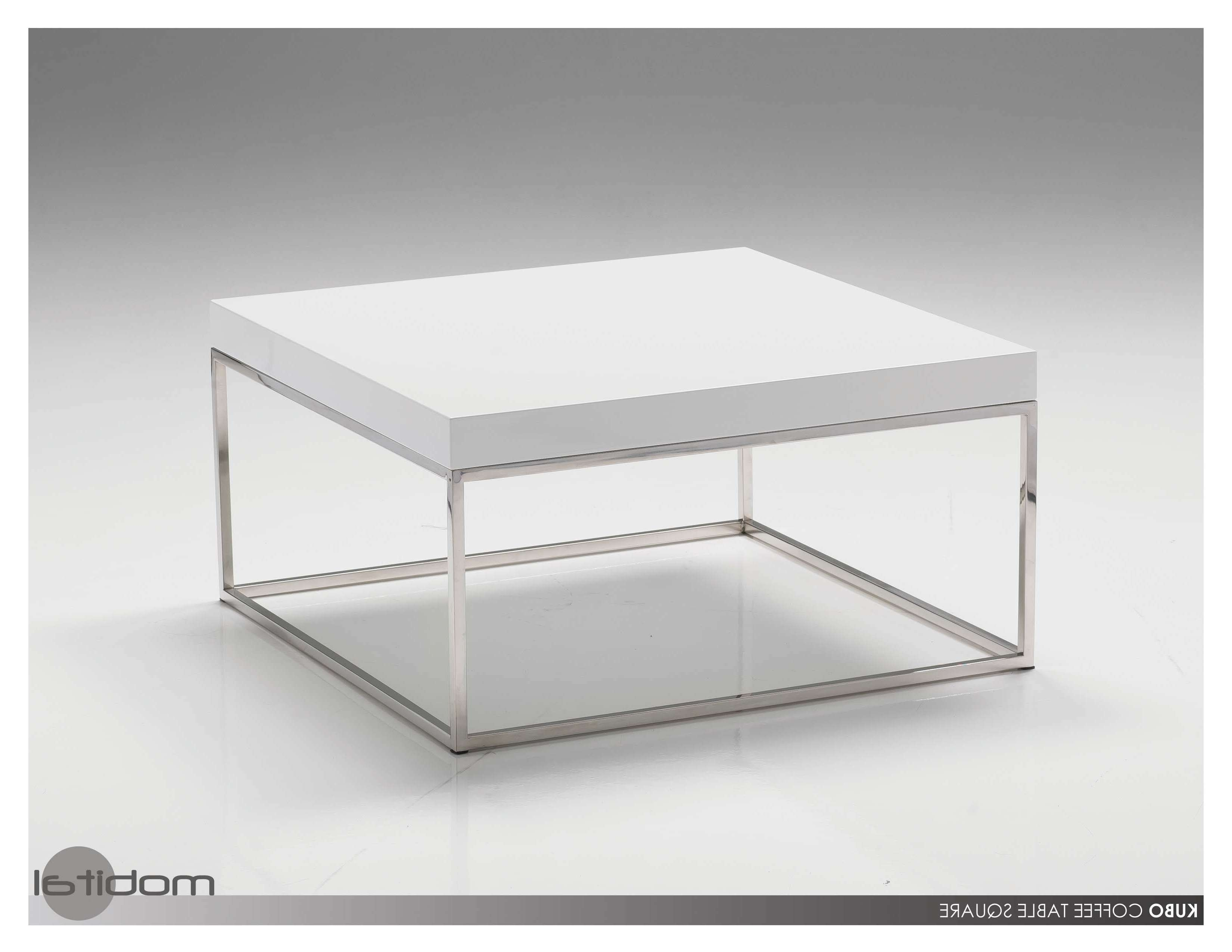 Latest White Square Coffee Table Regarding Coffee Tables : Storage Table High Gloss White Coffee With Drawers (View 8 of 20)