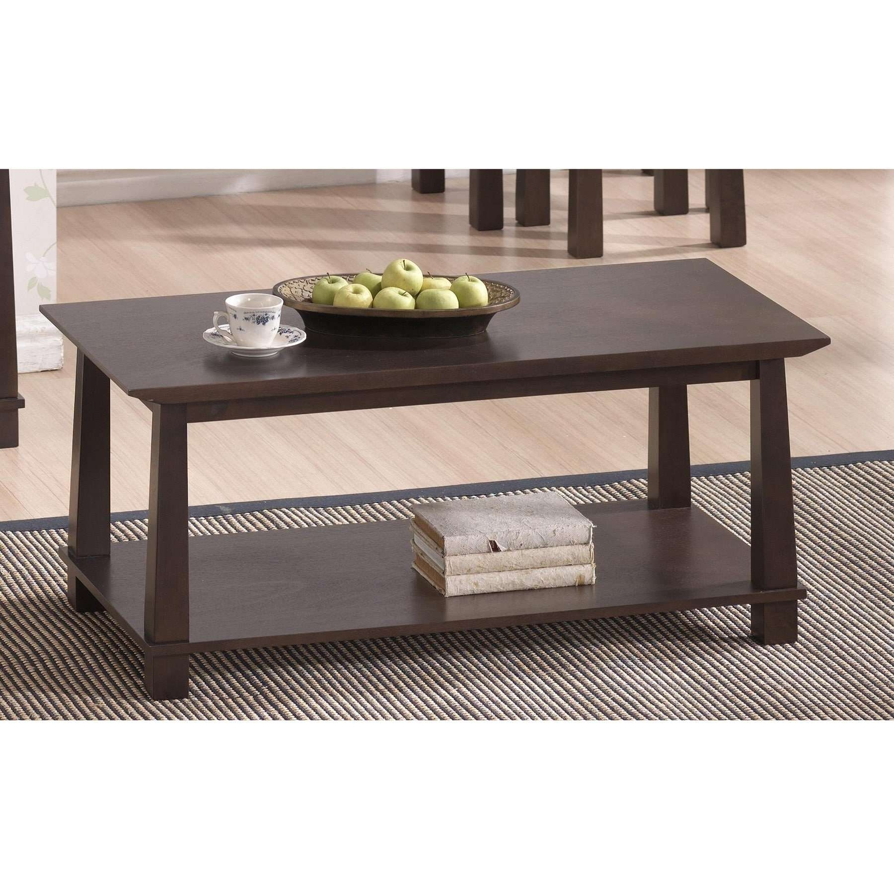Latest Wood Modern Coffee Tables Throughout Havana Brown Wood Modern Coffee Table – Free Shipping Today (View 9 of 20)