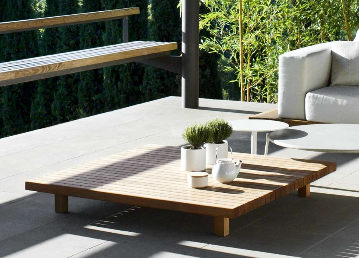 Latest Wooden Garden Coffee Tables With Regard To Tribu Vis A Vis Garden Coffee Table – Tribu Outdoor Furniture At (View 10 of 20)