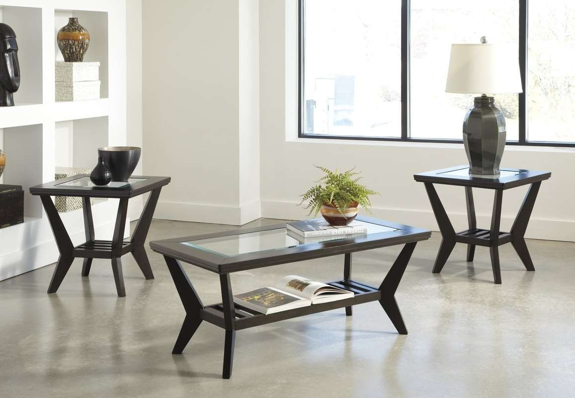 Latitude Run Woodrow 3 Piece Coffee Table Set In Brown & Reviews With Regard To Newest Wayfair Coffee Table Sets (View 6 of 20)