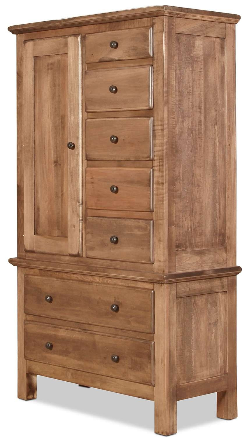 Lewiston Armoire – Sandalwood | Levin Furniture With Enclosed Tv Cabinets With Doors (View 10 of 20)