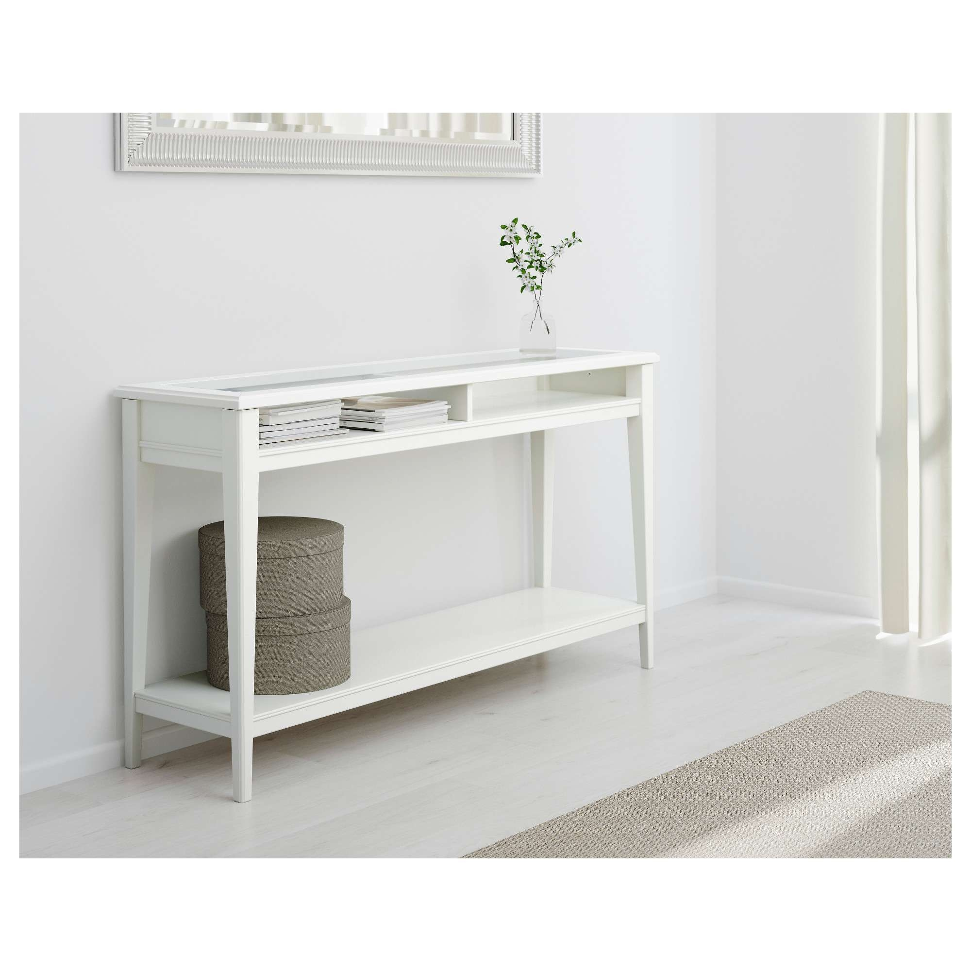 Liatorp Console Table – White/glass – Ikea Inside Liatorp Sideboards (View 14 of 20)