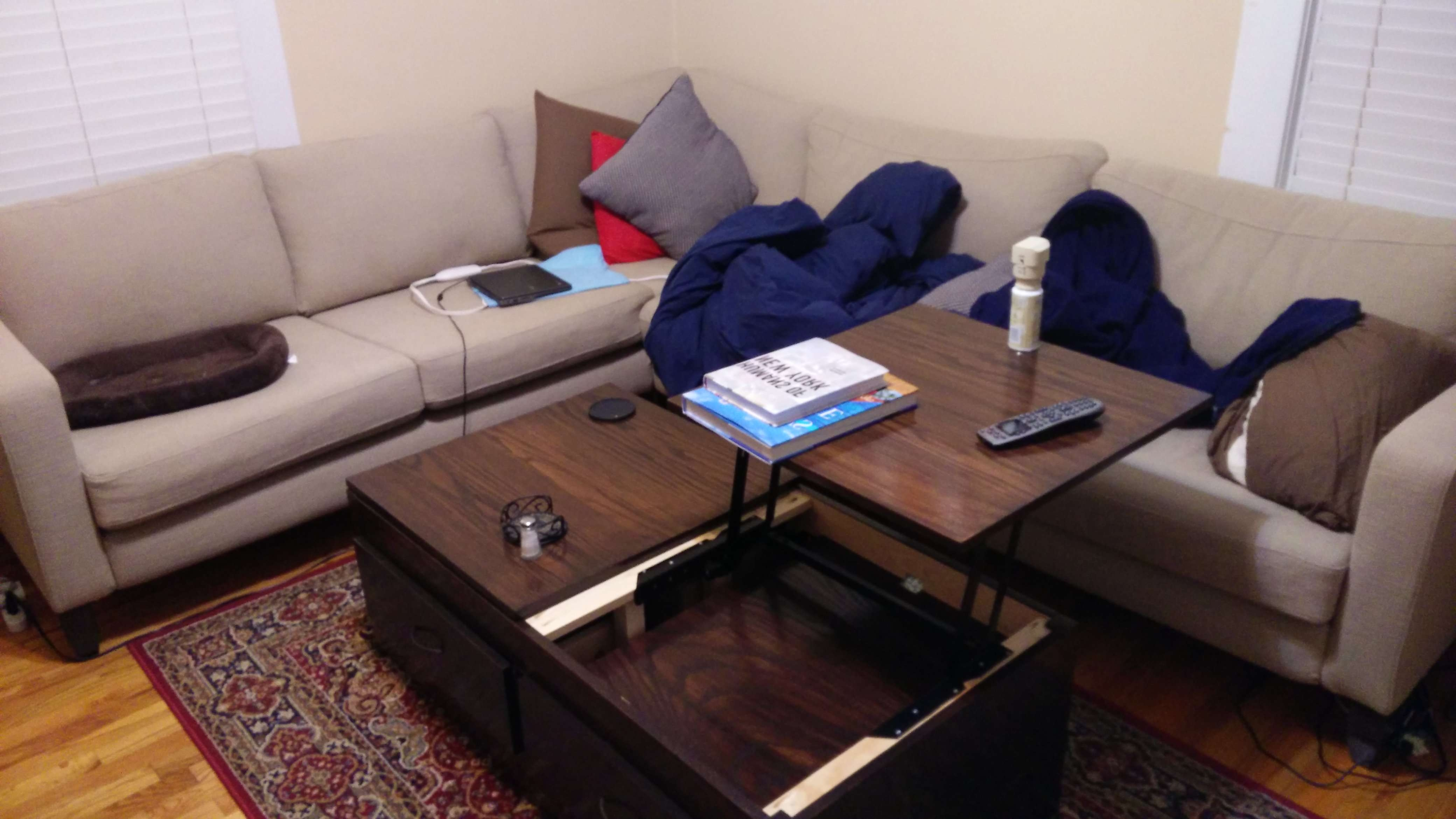 Lift Top Coffee Table – Diy Projects Throughout Latest Pop Up Top Coffee Tables (View 15 of 20)