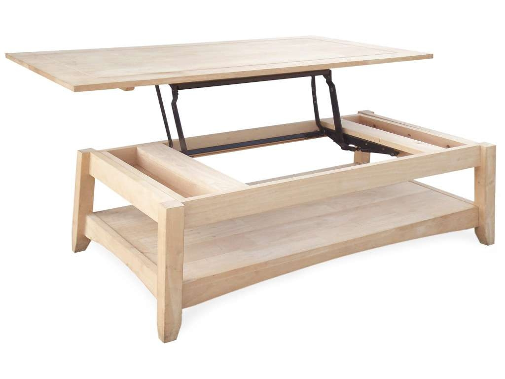 Lift Up Coffee Table Inspirational Rustic White Oak Wood Coffee In Popular Flip Up Coffee Tables (View 9 of 20)