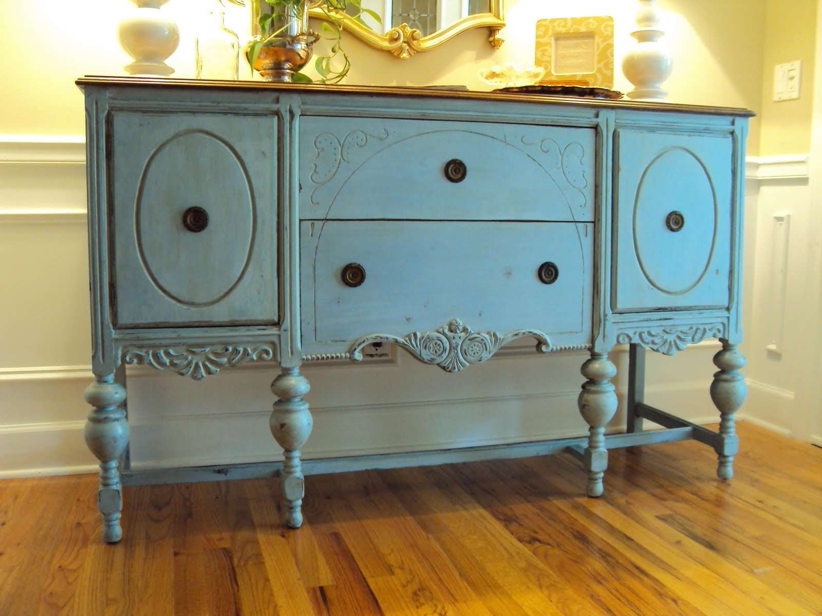 Light Of The Home: My Louis Blue Chalk Paint Buffet With Regard To Chalk Painted Sideboards (View 12 of 20)