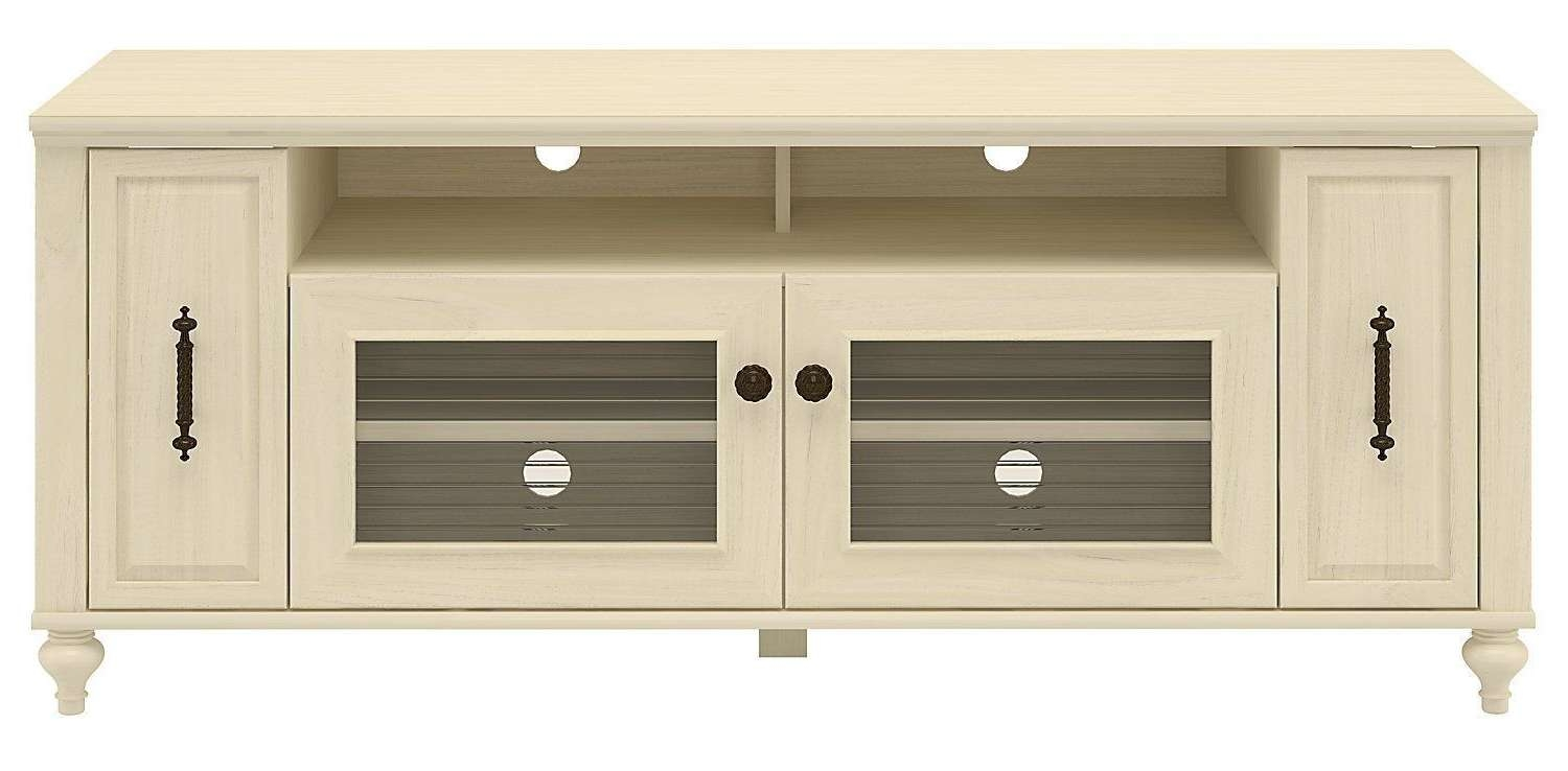 Light Wood Tv Stand Simple Room With Ikea Besta Media Cabinet 2017 Inside Cream Tv Cabinets (View 6 of 20)