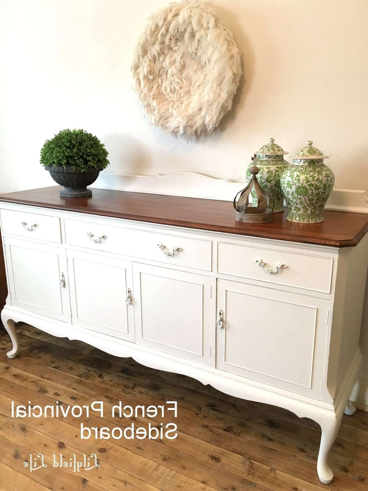 Lilyfield Life: French Provincial Sideboard – White And Timber Regarding French Sideboards (View 13 of 20)