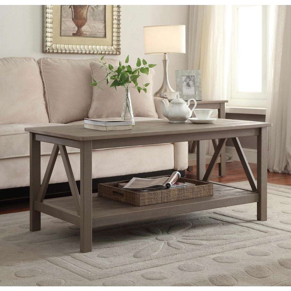 Linon Home Decor – Accent Tables – Living Room Furniture – The In Famous Beige Coffee Tables (View 11 of 20)