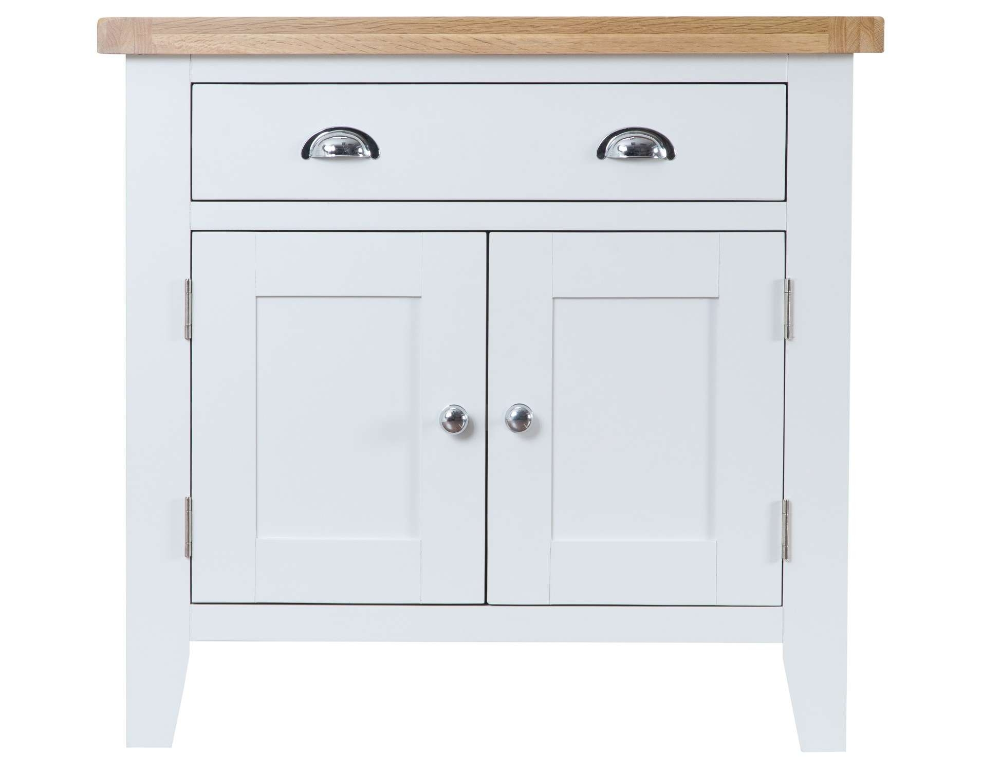 Liverpool Painted Oak Sideboard / Cream Small Cabinet / Cupboard Inside Cream And Oak Sideboards (View 13 of 20)