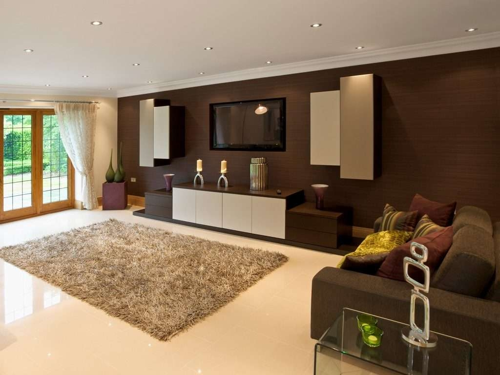 Living ~ 1 Bespoke Built In Fitted Tv Units Cabinets Dark Wood Intended For Bespoke Tv Cabinets (View 13 of 20)