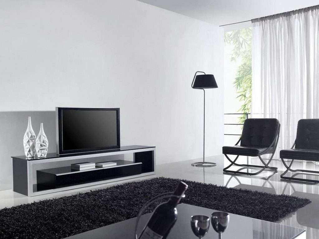 Living ~ Led Tv Cabinet Designs Long White Tv Unit Tv Console In Long White Tv Cabinets (View 8 of 20)