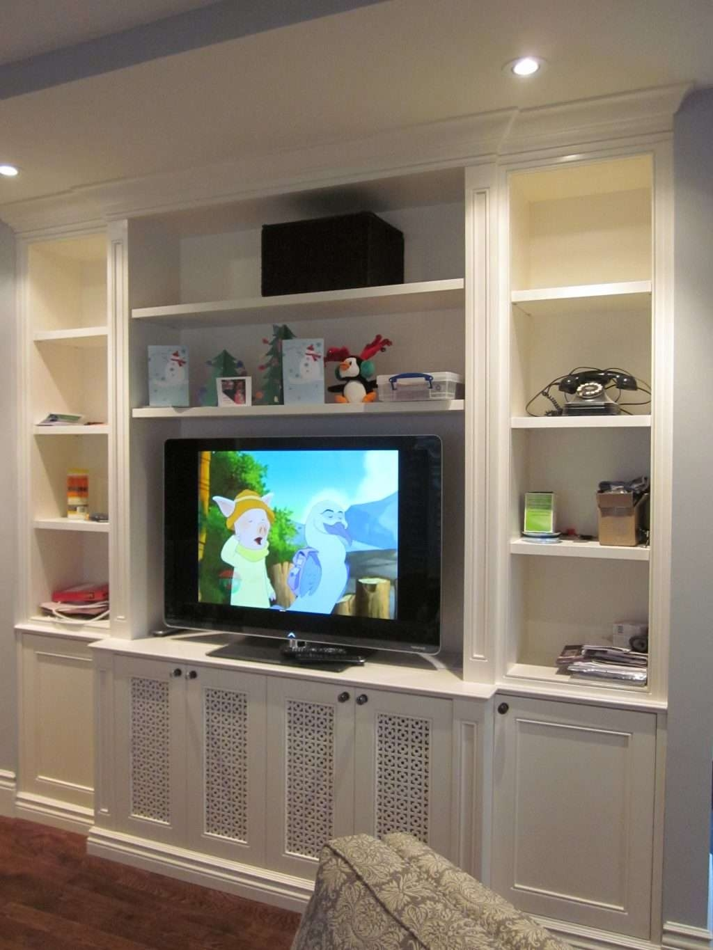 Living ~ Living Room Small Living Room Ideas With Tv In Corner In Cream High Gloss Tv Cabinets (View 7 of 20)