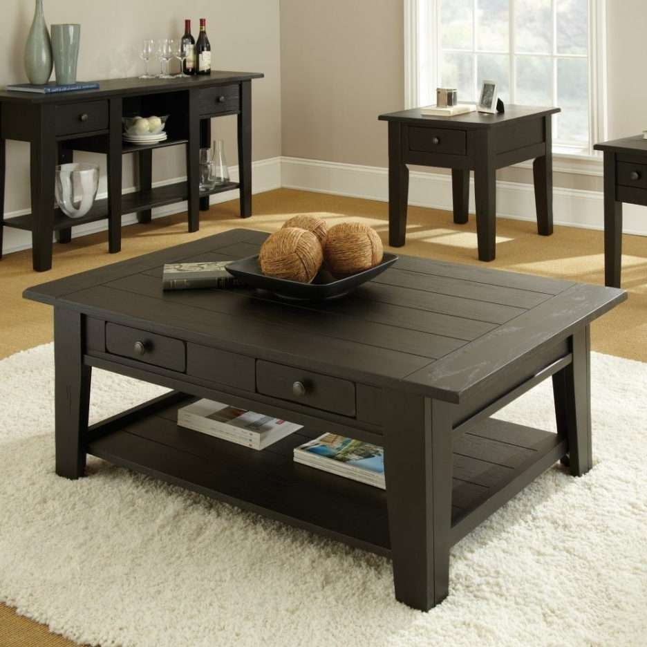 Living Room : Attractive Modern End Table For Living Room With Within Popular Dark Wooden Coffee Tables (View 15 of 20)