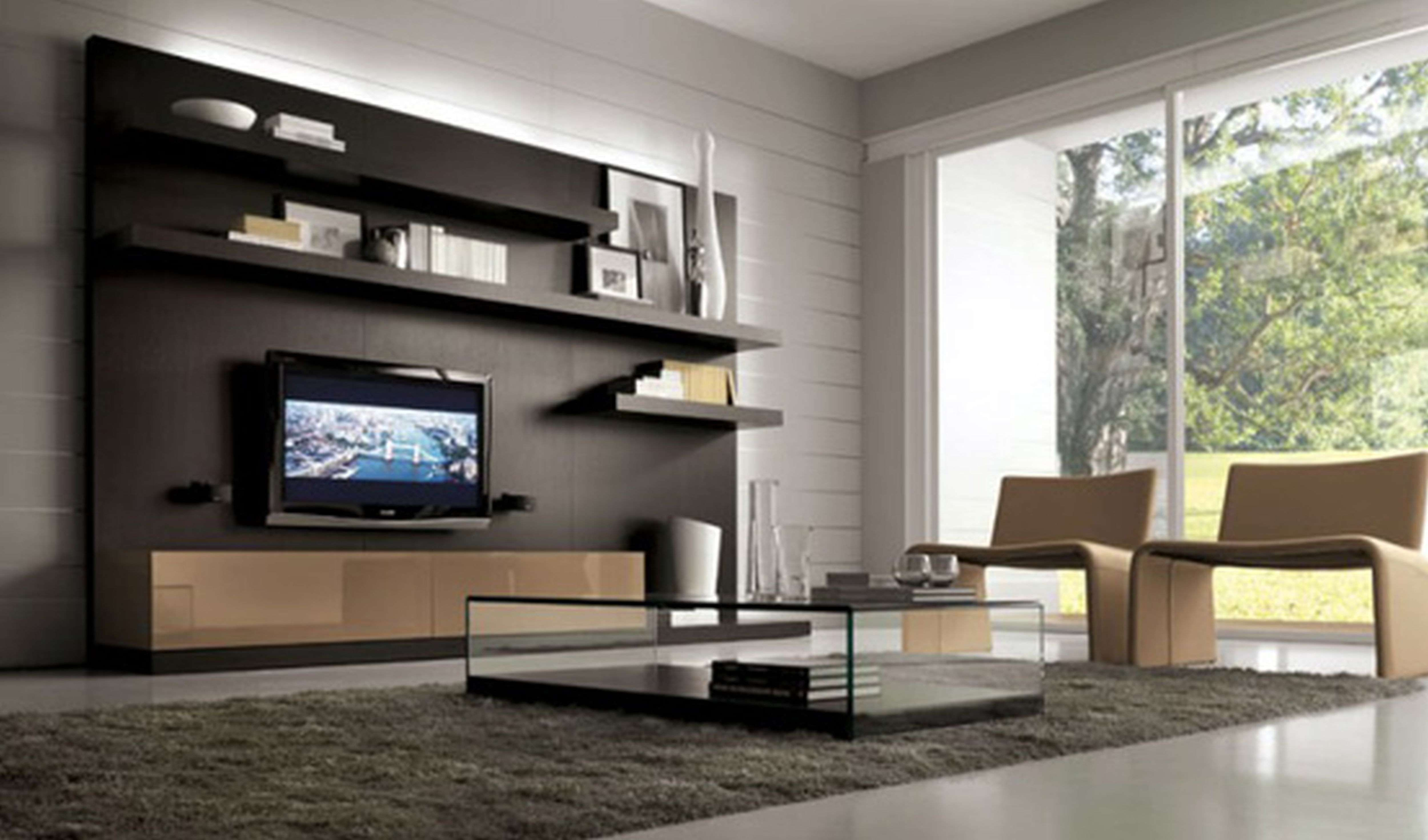 Living Room : Beautiful Home Living Room Design With Tv On Wall In Modern Tv Cabinets For Flat Screens (View 10 of 20)