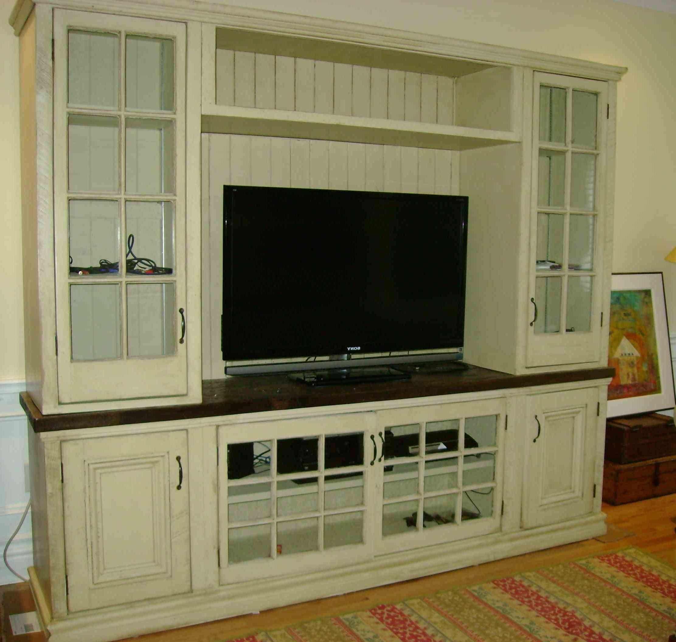 Living Room : Beautiful White Wood Glass Modern Design Elegant Intended For Wall Display Units And Tv Cabinets (View 17 of 20)