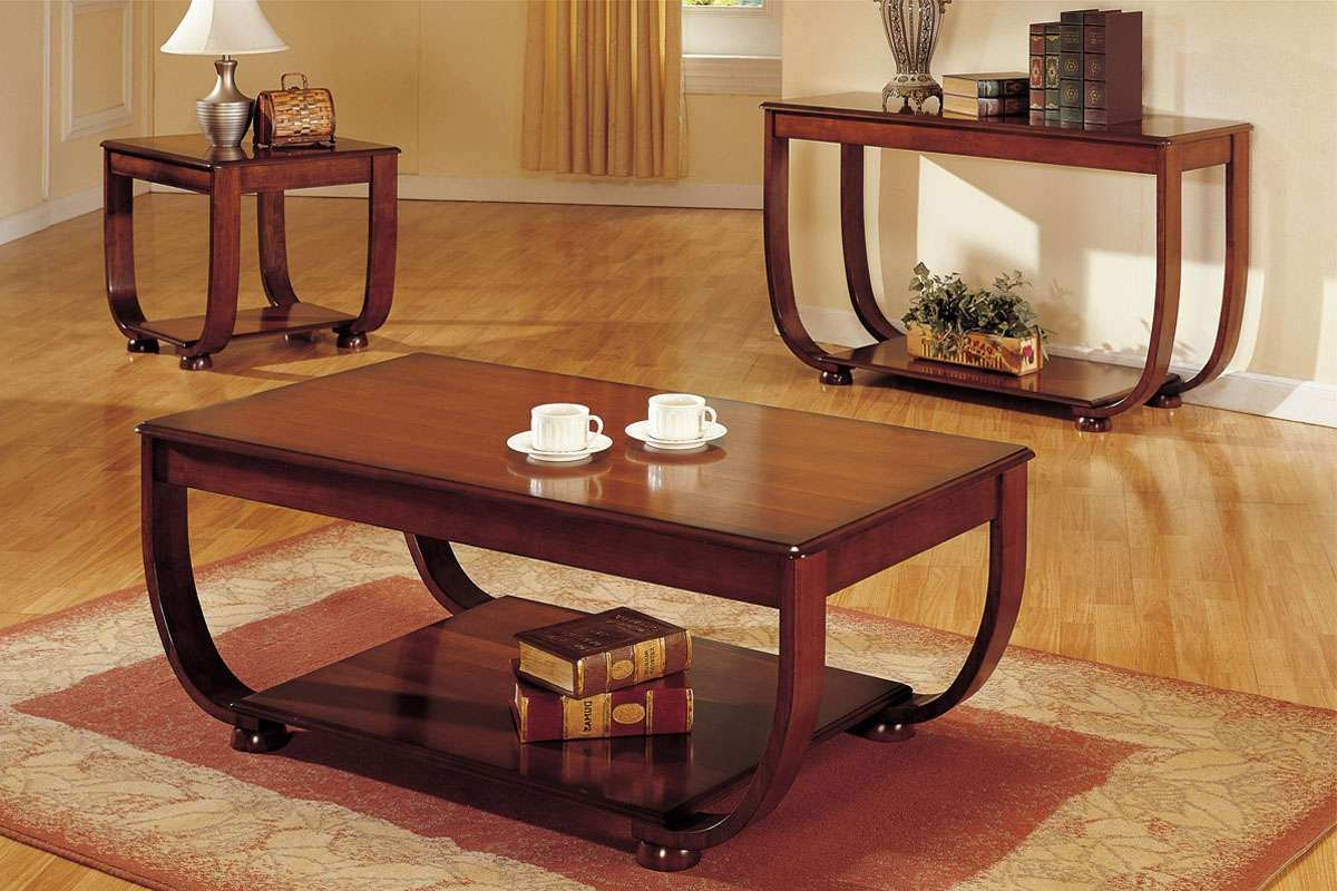 Living Room Ideas : Cheap Living Room Tables Sets Most Recommended Throughout Newest Cherry Wood Coffee Table Sets (View 9 of 20)