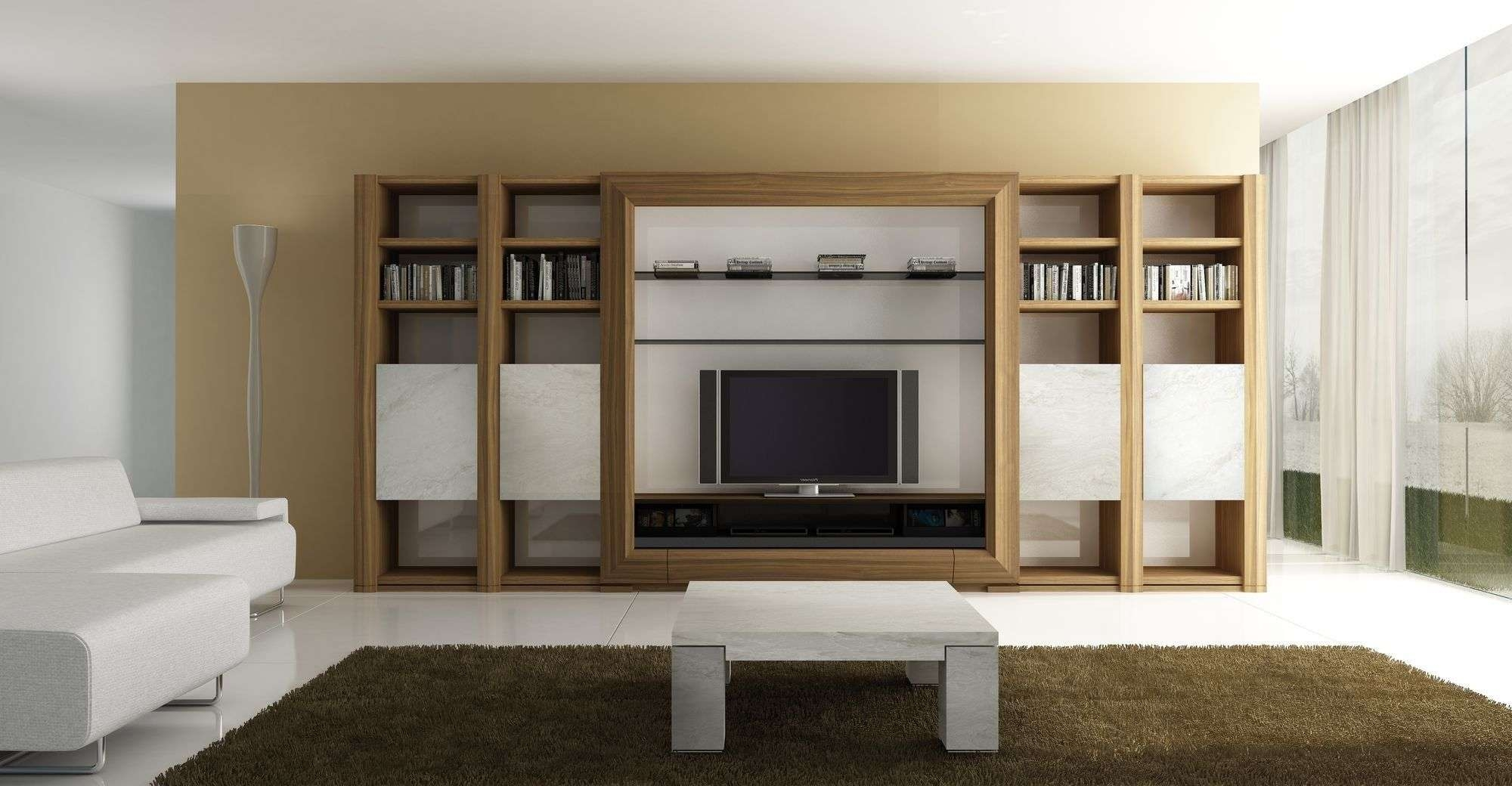 Living Room: Living Room Wooden Furniture With Wall Maple Tv Stand Regarding Full Wall Tv Cabinets (View 12 of 20)