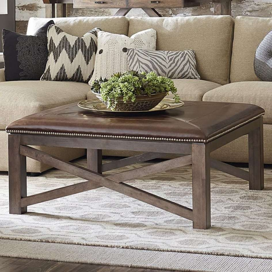 Living Room : Round Ottoman Seat Brown Leather Ottoman Coffee In Well Known Green Ottoman Coffee Tables (View 11 of 20)