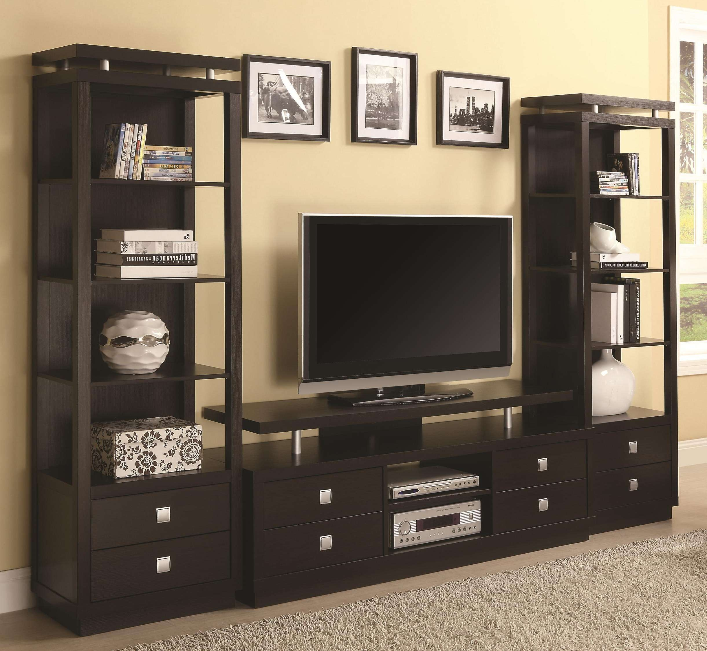 Living Room : Tv Entertainment Unit Glass Showcase Designs For With Full Wall Tv Cabinets (View 16 of 20)