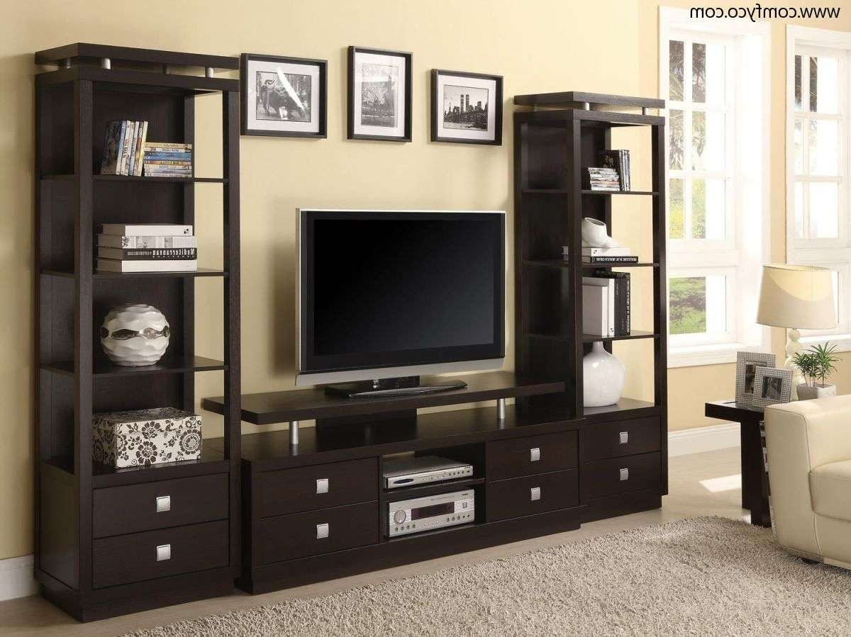 Living ~ Wall Tv Unit Corner Lcd Tv Stand Wall Unit Tv Inside Tv Cabinets And Wall Units (View 10 of 20)