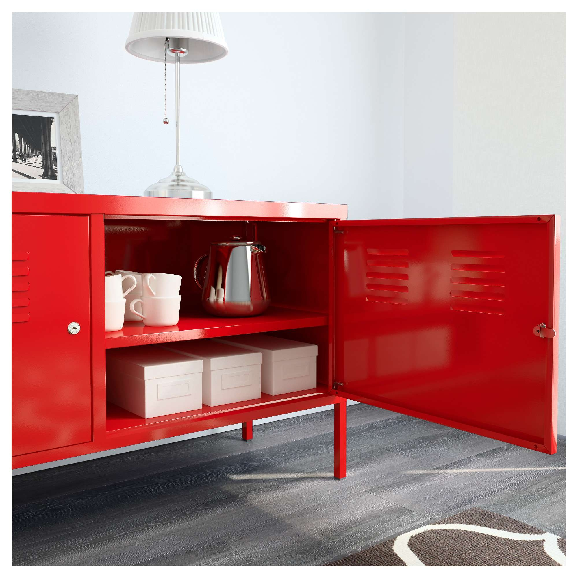 Locker Tv Stand Within Red Tv Cabinets (View 9 of 20)