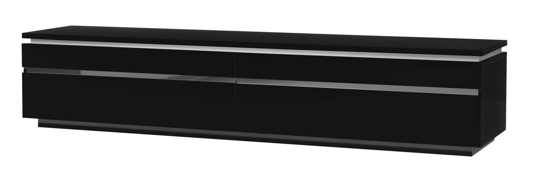 Logan Black Gloss Tv Unit & Lights | Free Delivery | Fads Pertaining To Black Gloss Tv Cabinets (View 14 of 20)