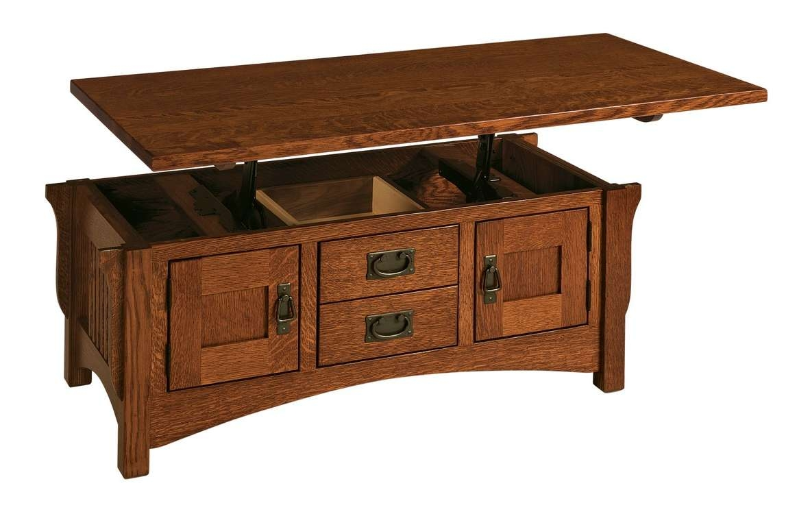 Logan: Lift Top Coffee Table – Buckeye Amish Furniture For Most Recently Released Hinged Top Coffee Tables (View 10 of 20)