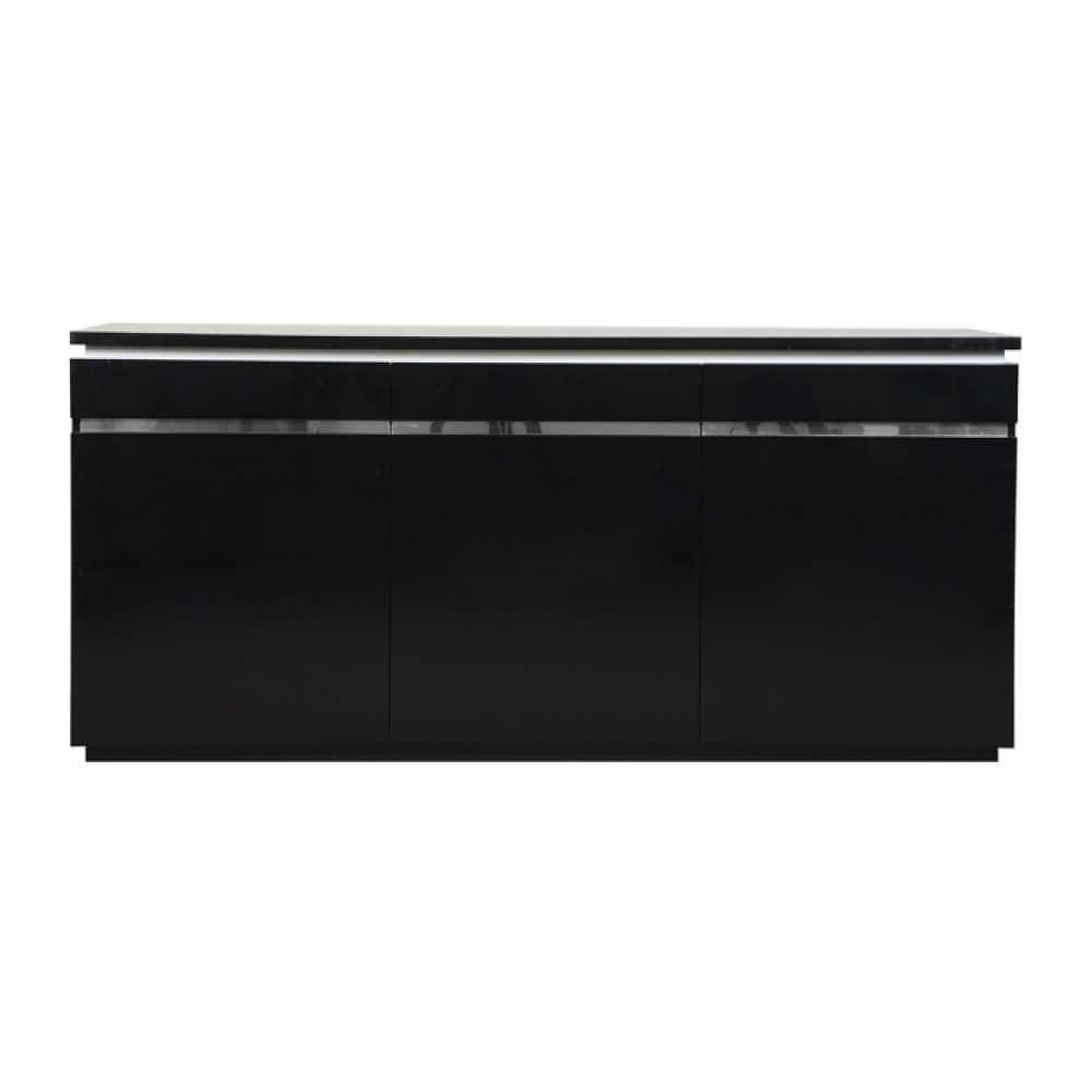 Logan Modern Black Sideboard High Gloss & Lights | Sideboards | Fads In Sideboards With Lights (View 5 of 20)