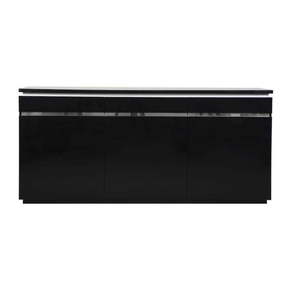 Logan Modern Black Sideboard High Gloss & Lights | Sideboards | Fads In Sideboards With Lights (View 15 of 20)