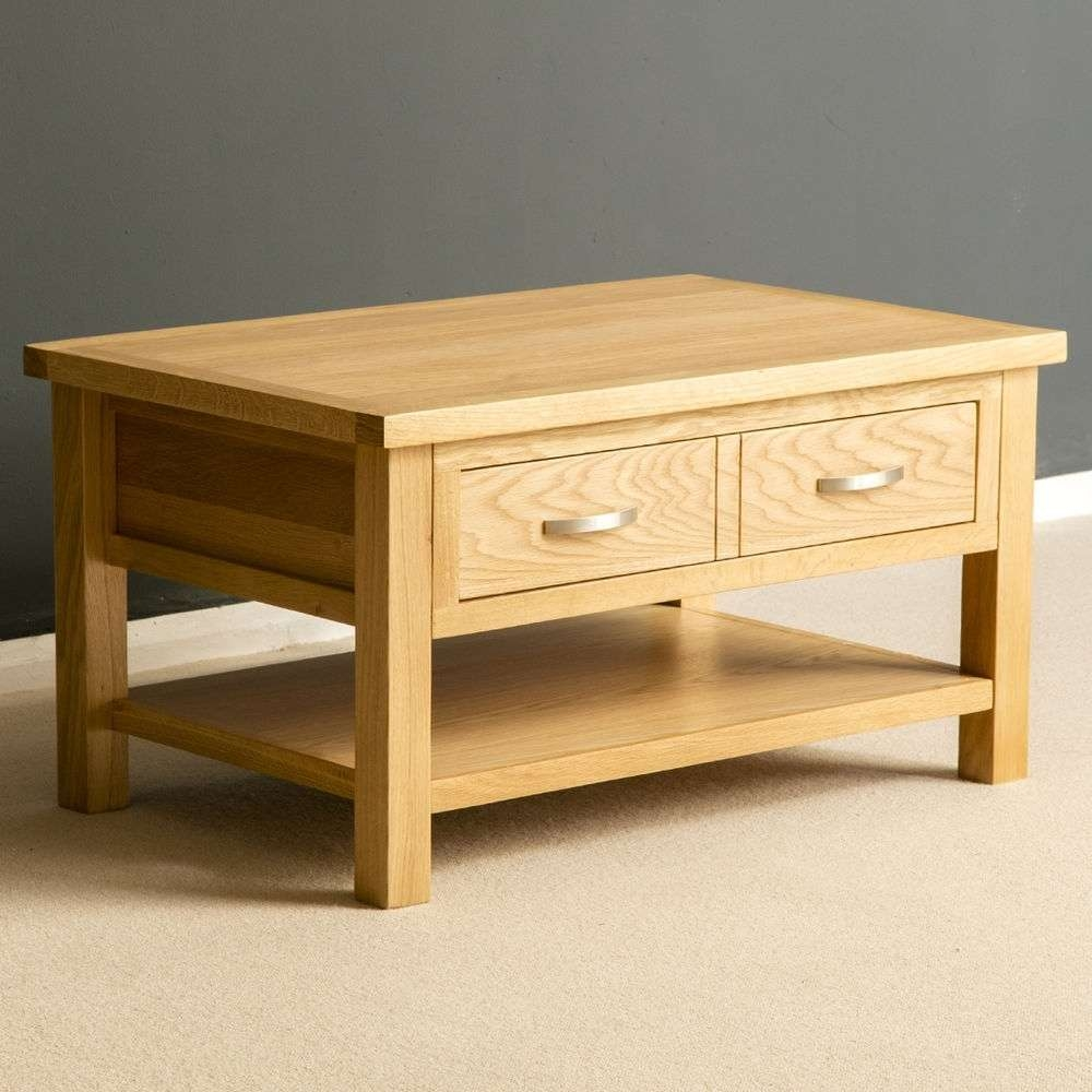 London Oak Coffee Table Light Oak Lounge Table Solid Wood For 2017 Light Oak Coffee Tables With Drawers (View 5 of 20)