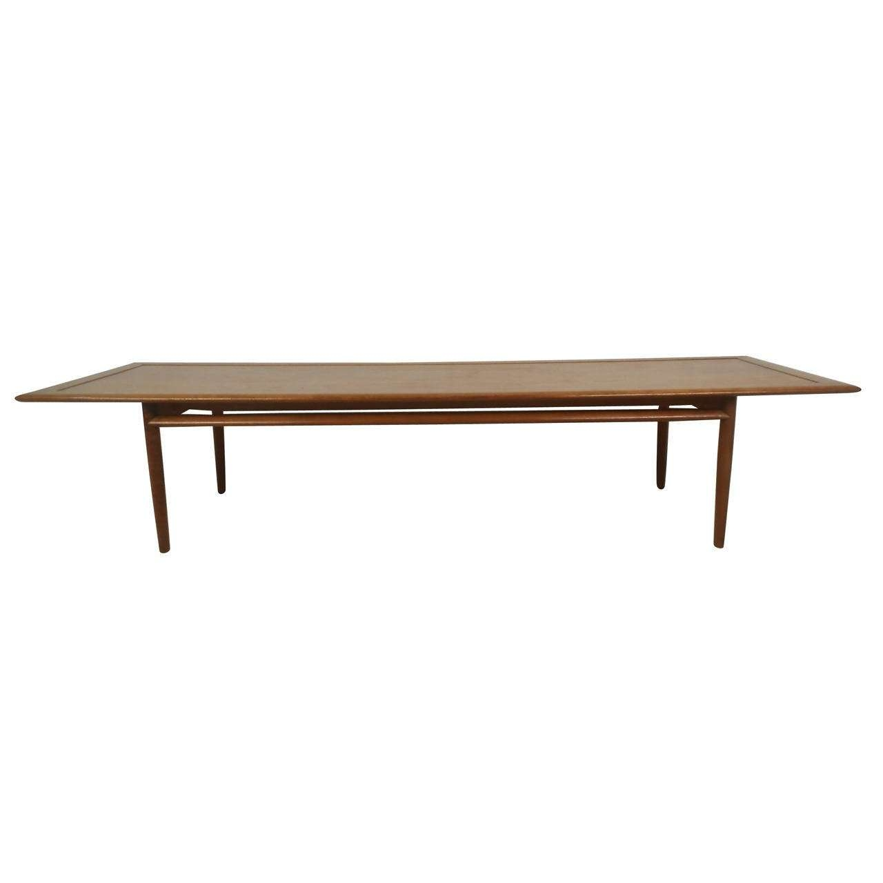 Long Coffee Table From Drexel Parallel Series For Sale At 1stdibs Inside Current Long Coffee Tables (View 2 of 20)