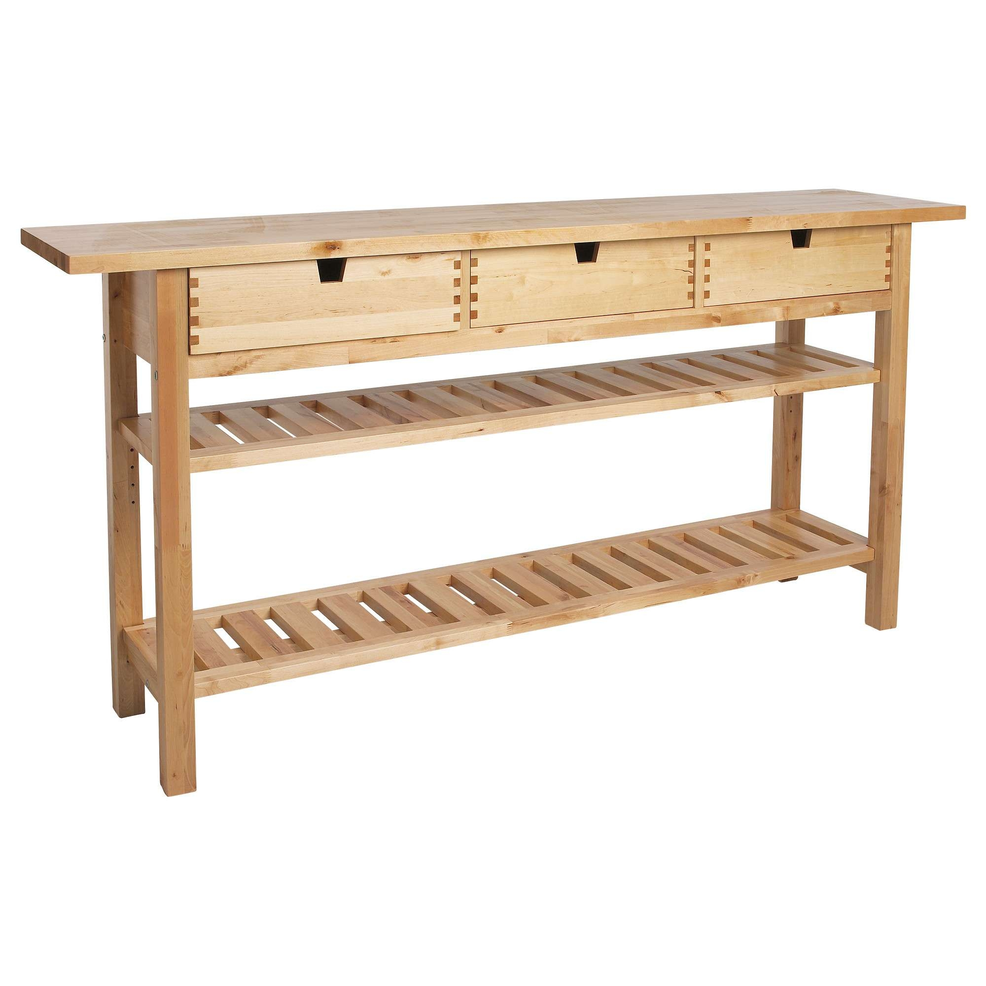 Long Outdoor Teak Console Table With Drawer And Double Stair Throughout Outdoor Sideboards Tables (View 11 of 20)
