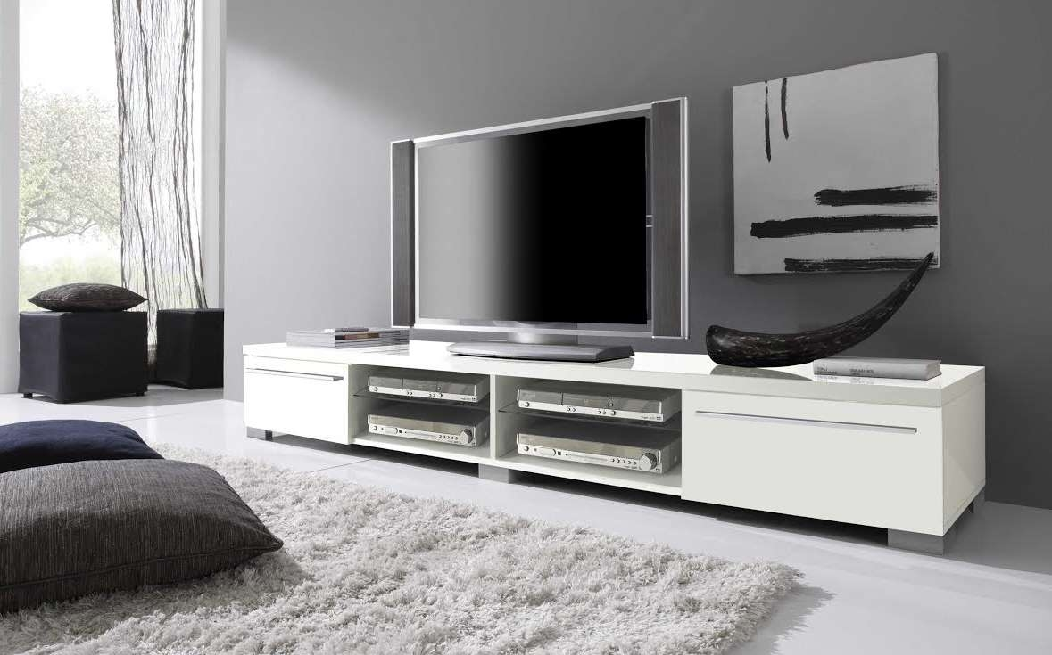 Long White Tv Cabinet | Eo Furniture Within Long White Tv Cabinets (View 4 of 20)