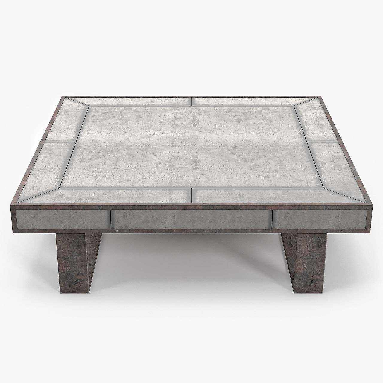 Louise Bradley Antique Mirror Coffee Table 3D Model Max Obj Fbx Mtl Pertaining To Recent Vintage Mirror Coffee Tables (View 11 of 20)