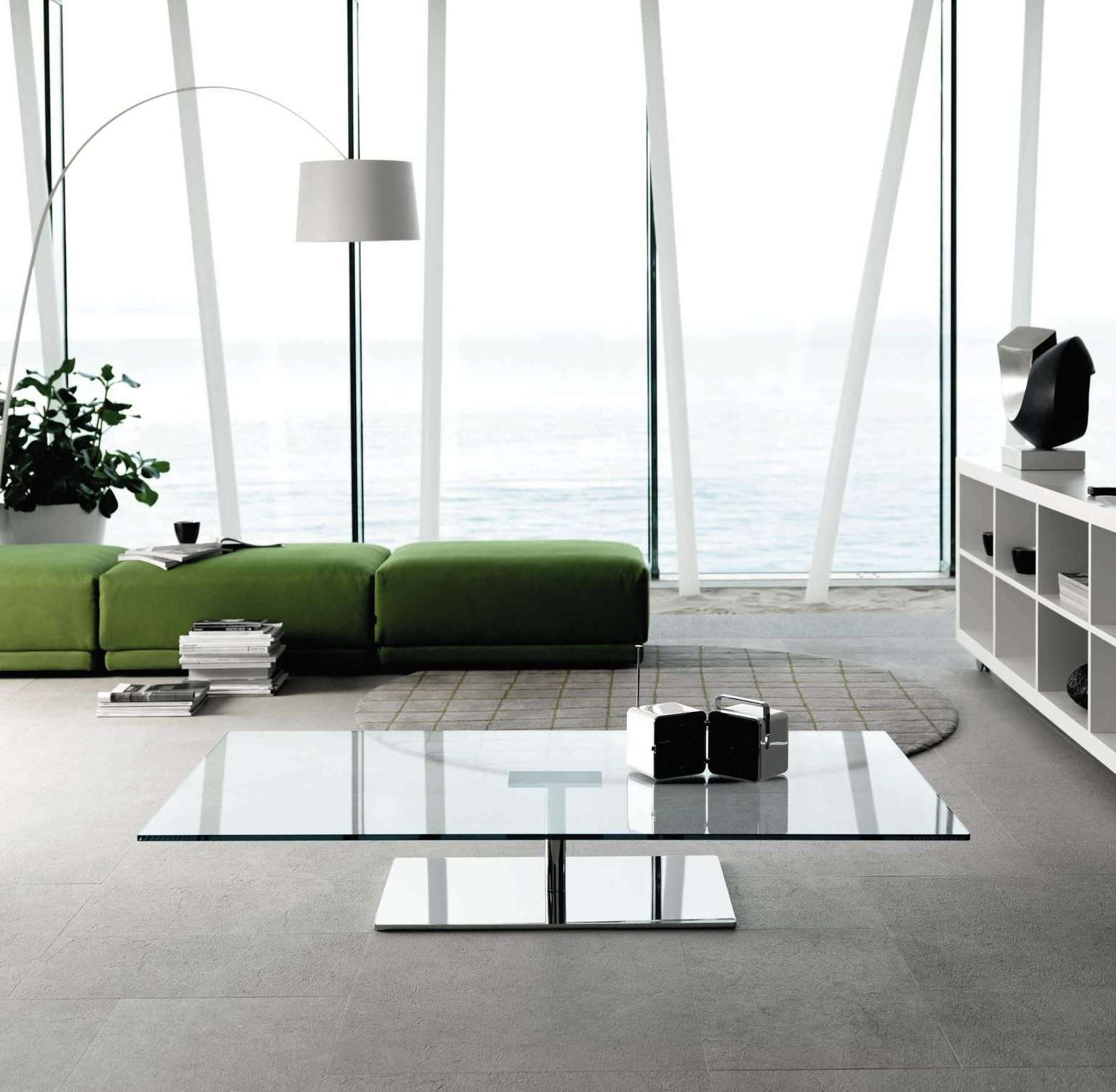 Low Glass Coffee Table Beautiful 30 Glass Coffee Tables That Bring Inside Trendy Low Glass Coffee Tables (View 2 of 20)