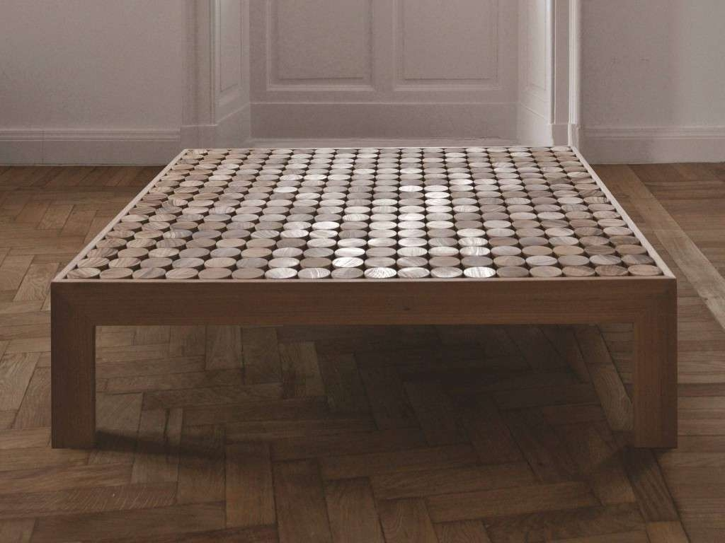 Low Square Coffee Table Wooden Throughout Favorite Large Low Wood Coffee Tables (View 7 of 20)