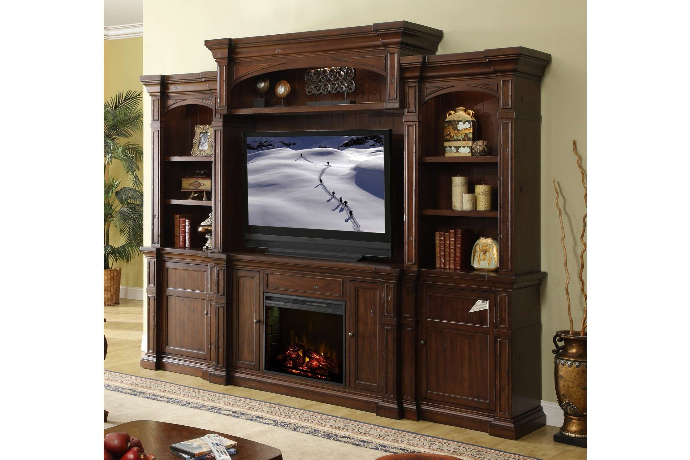 Lowes Tv Stands With Traditional Wooden Tv Stand And Electric Intended For Traditional Tv Cabinets (View 5 of 20)