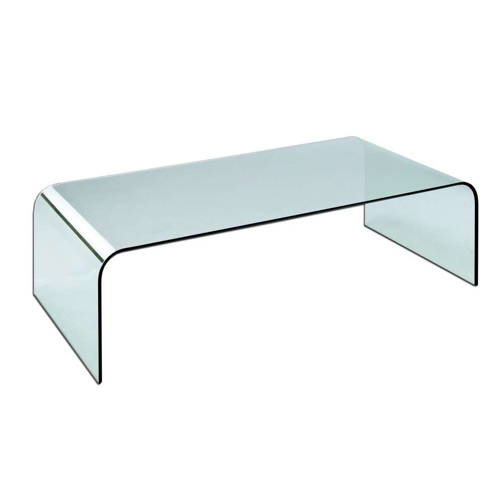 Lpd Curved Glass Coffee Table Simple Great Furniture Azurro Theme With Best And Newest Curve Coffee Tables (View 8 of 20)