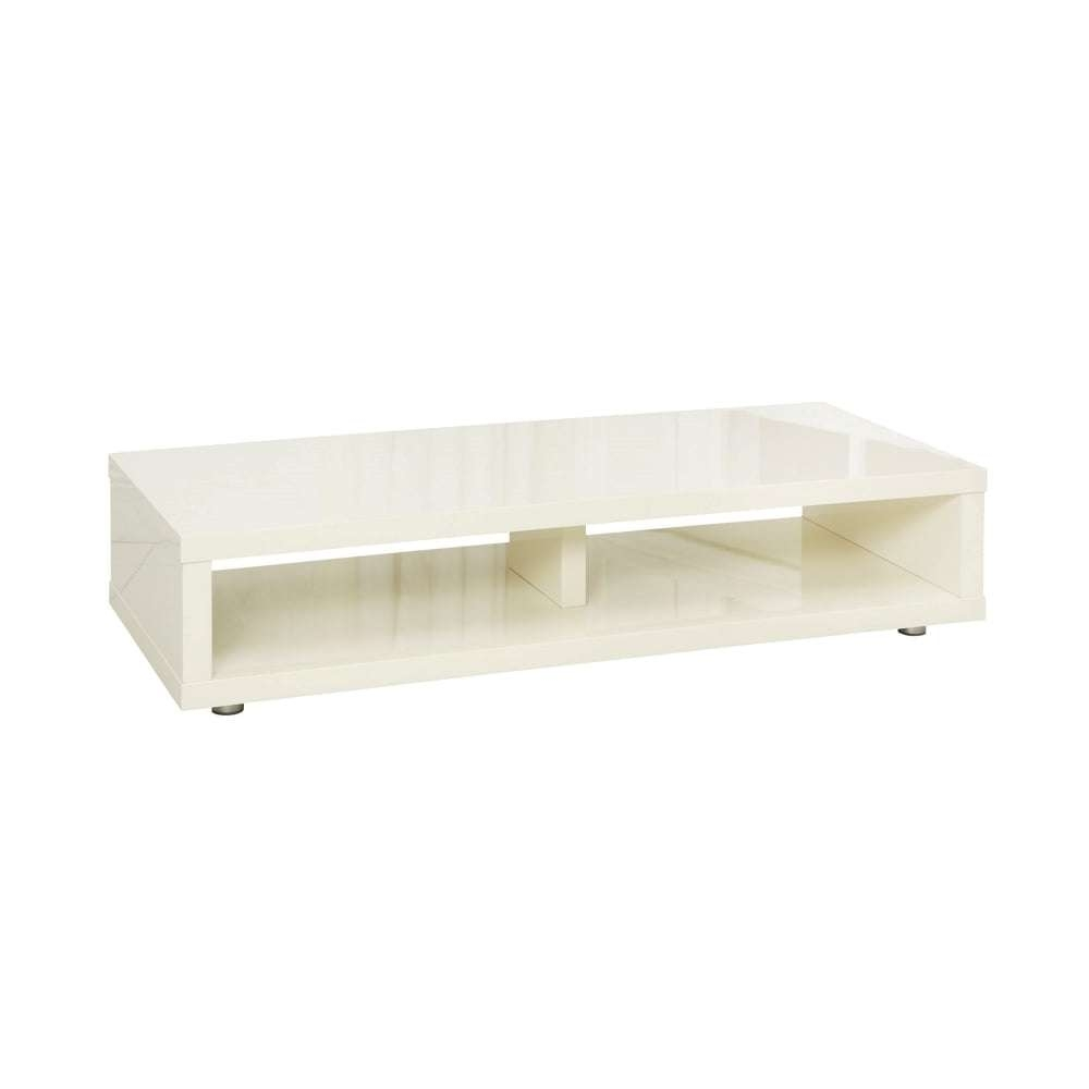 Lpd Furniture Puro Cream High Gloss Tv Stand | Leader Stores Intended For Cream High Gloss Tv Cabinets (View 9 of 20)