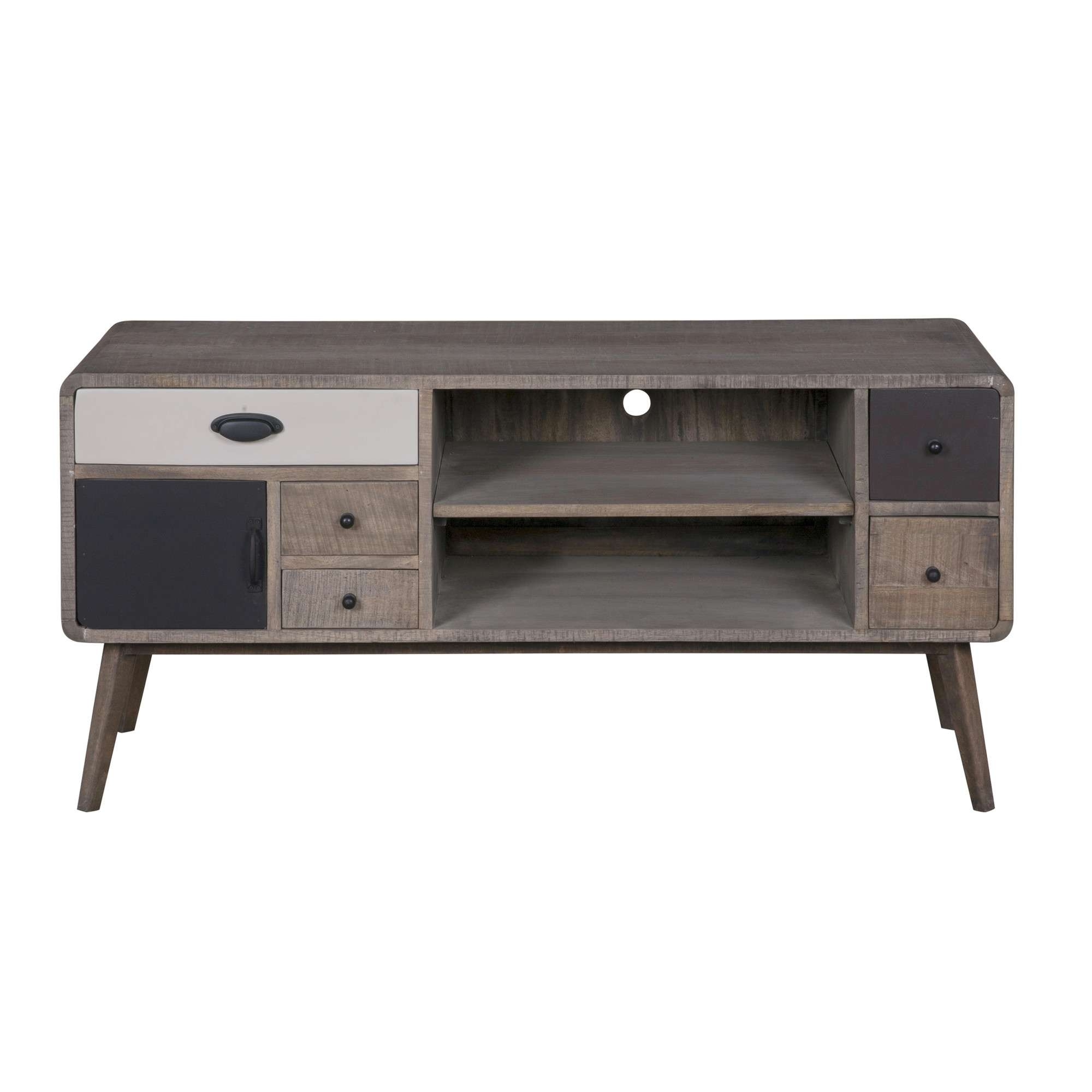 Ludvika Mango Wood Tv Cabinet | Temple & Webster Pertaining To Mango Wood Tv Cabinets (View 13 of 20)