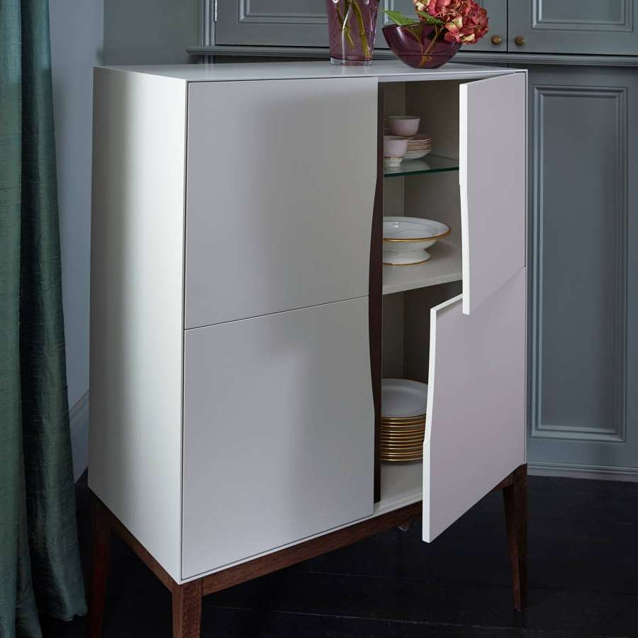 Lux Tall Square Sideboardgillmorespace | Notonthehighstreet Regarding Tall Sideboards (View 2 of 20)