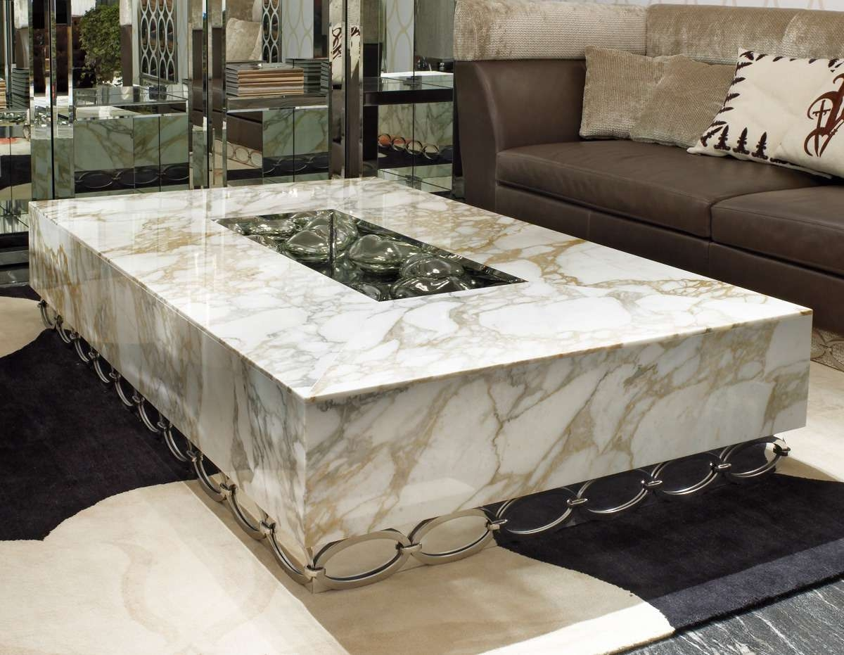 Luxury Marble Coffee Table Luxury Coffee Tables Australia Pertaining To Trendy Marble And Glass Coffee Table (View 7 of 20)