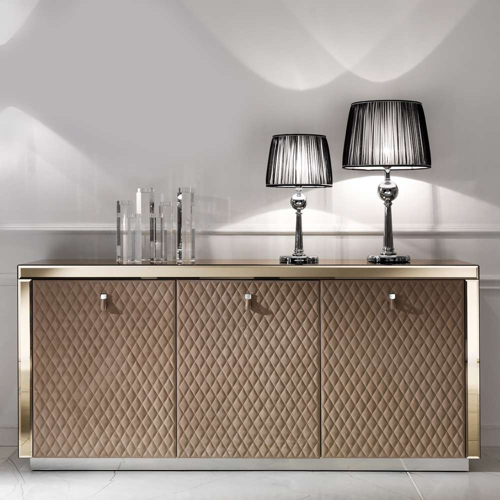 Luxury Mirrored Furniture – Exclusive Designer High End Venetian Inside Glass Sideboards (View 8 of 20)