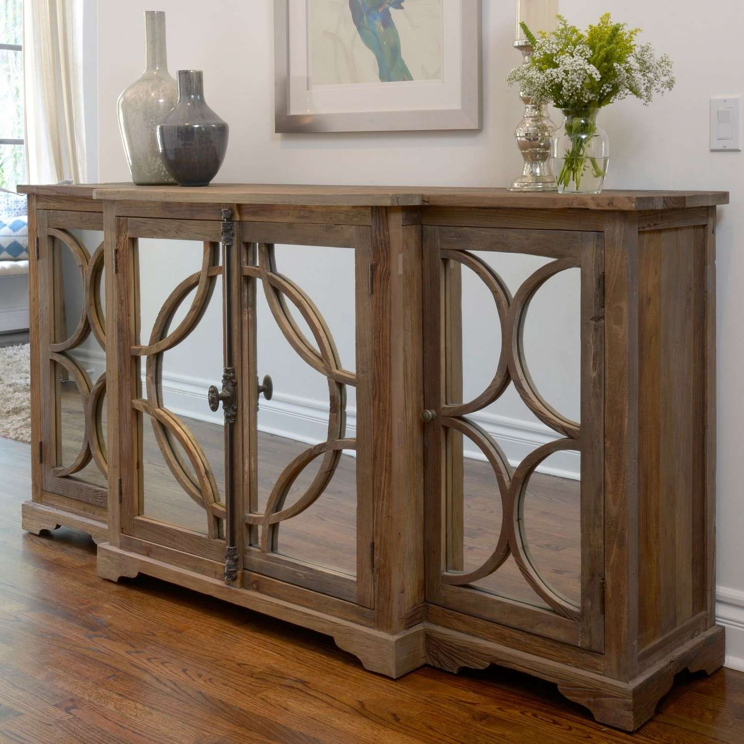 Luxury Mirrored Sideboard Buffet – Bjdgjy Throughout Mirror Sideboards (View 8 of 20)