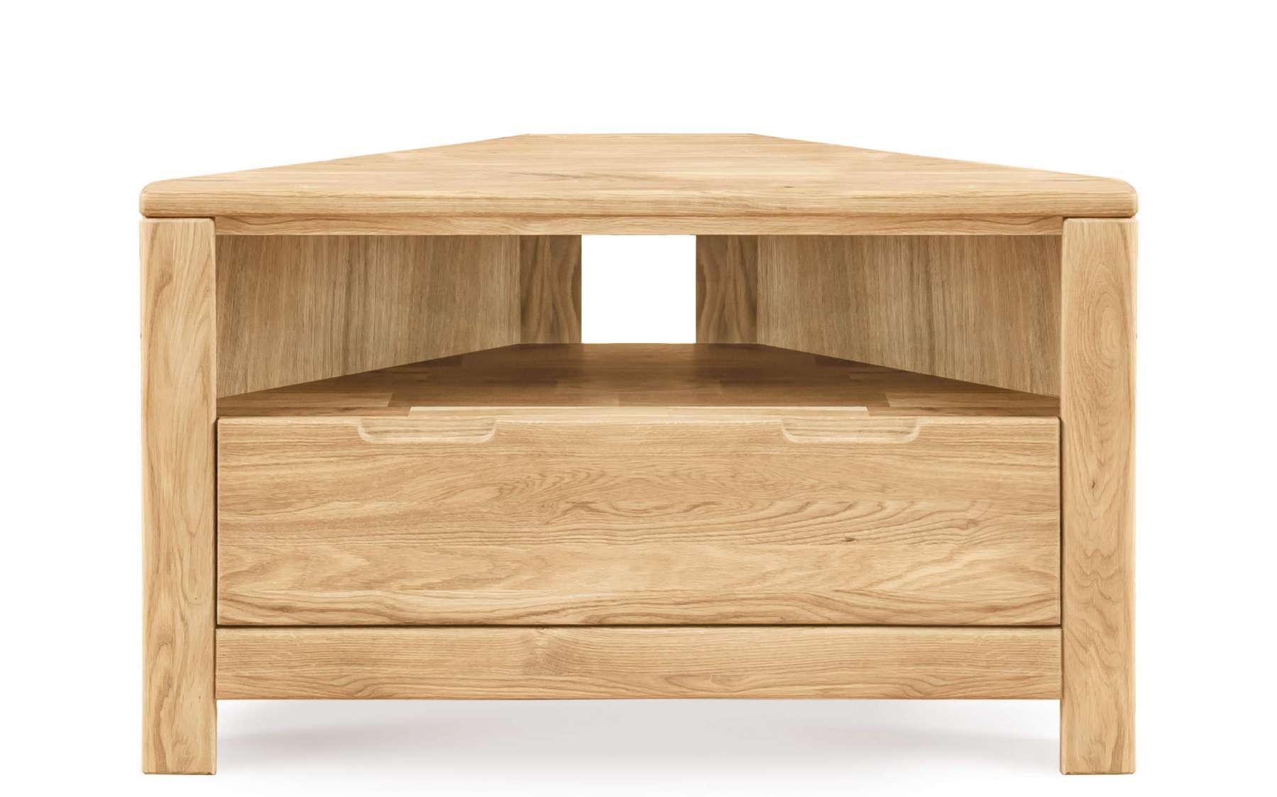 Lyon Corner Tv Unit   Solid Oak Intended For Oak Corner Tv Cabinets (View 17 of 20)