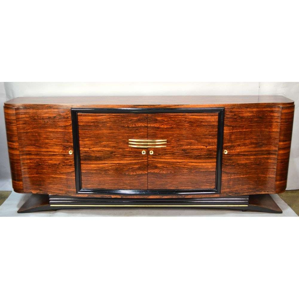 Macassar French Art Deco Sideboard Bronze Birds Eye Maple, Ca Intended For Art Deco Sideboards (View 17 of 20)