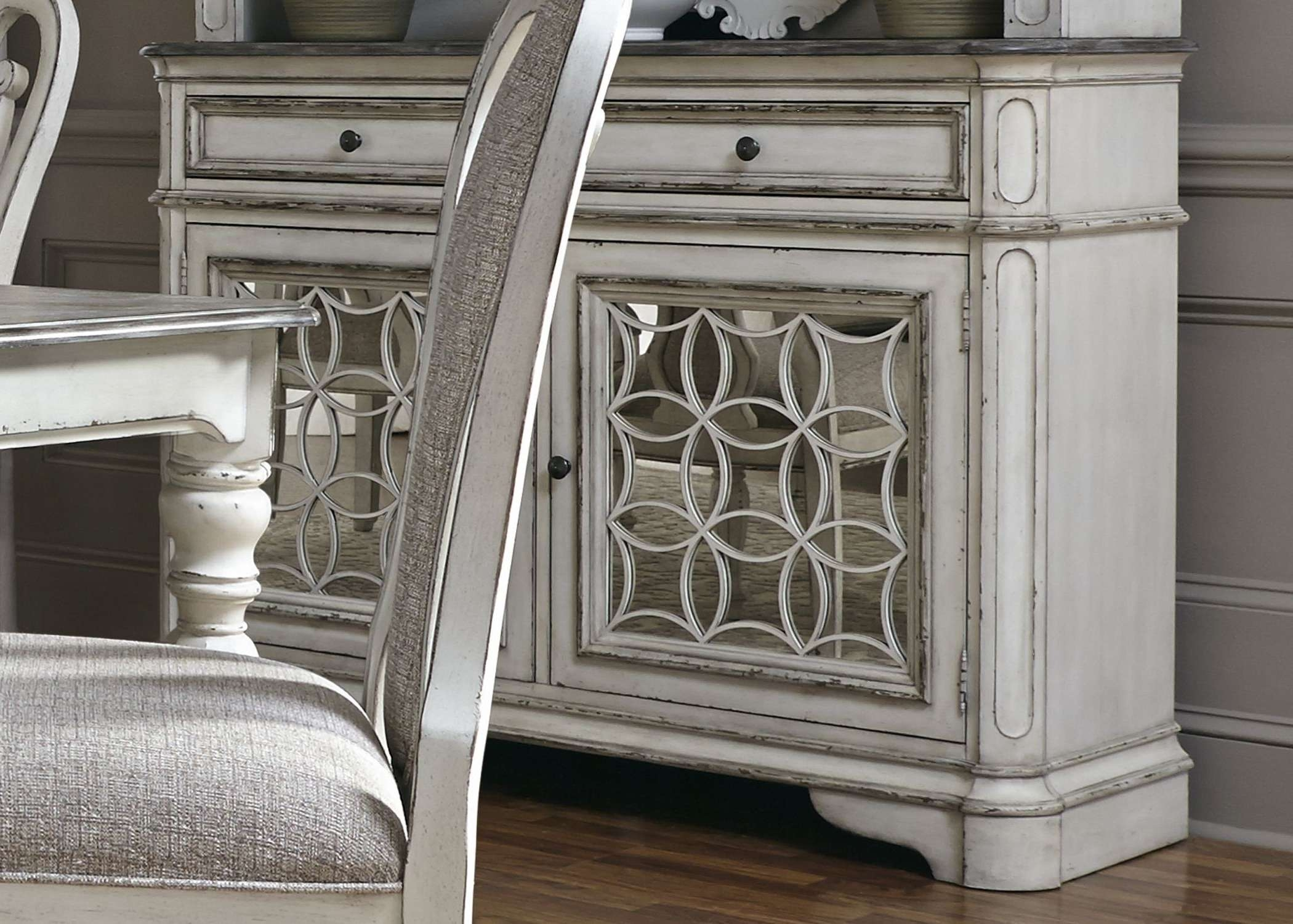 Magnolia Manor Antique White Buffet – Servers, Sideboards Within Antique White Sideboards (View 11 of 20)