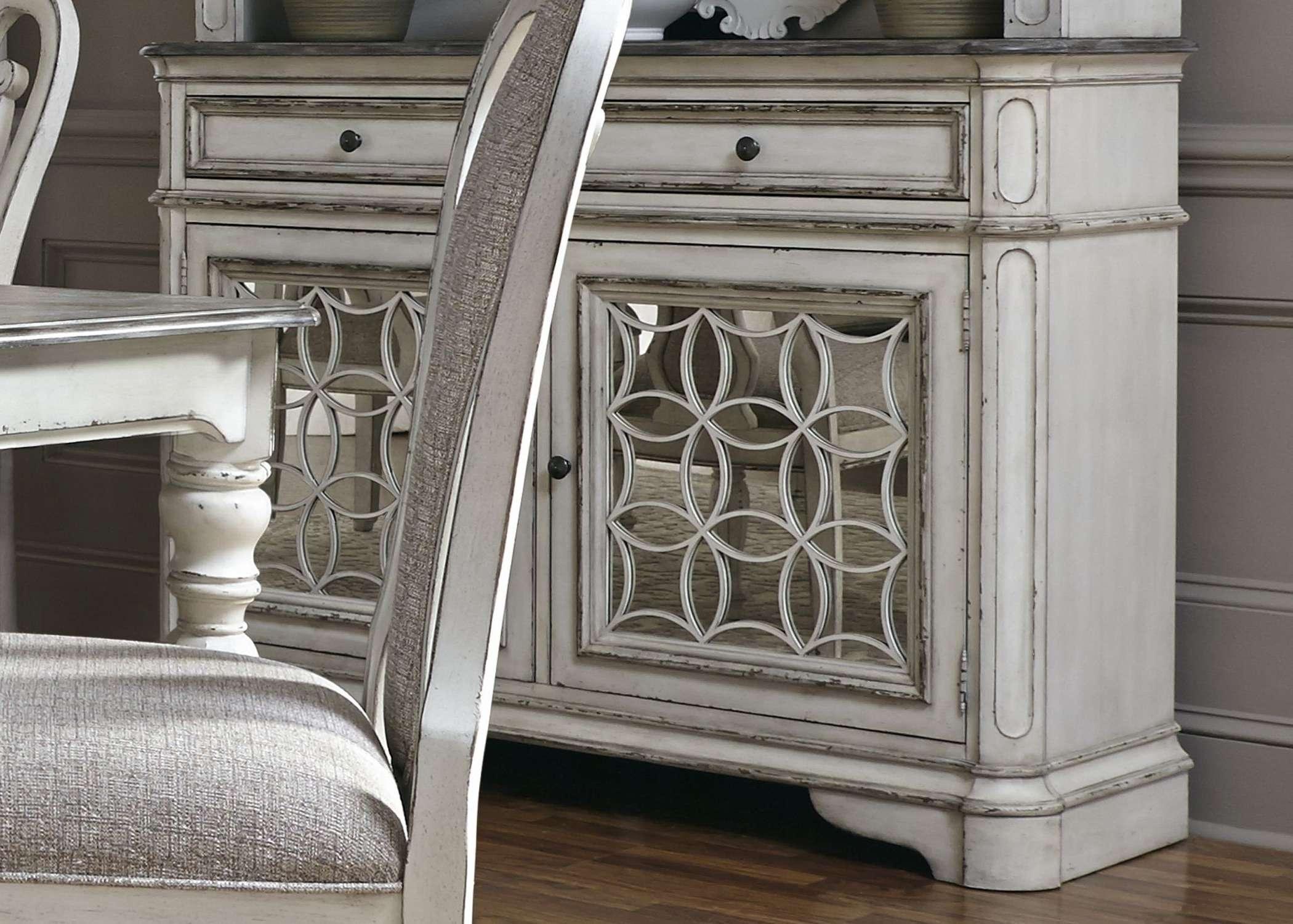 Magnolia Manor Antique White Buffet – Servers, Sideboards Within Antique White Sideboards (View 3 of 20)