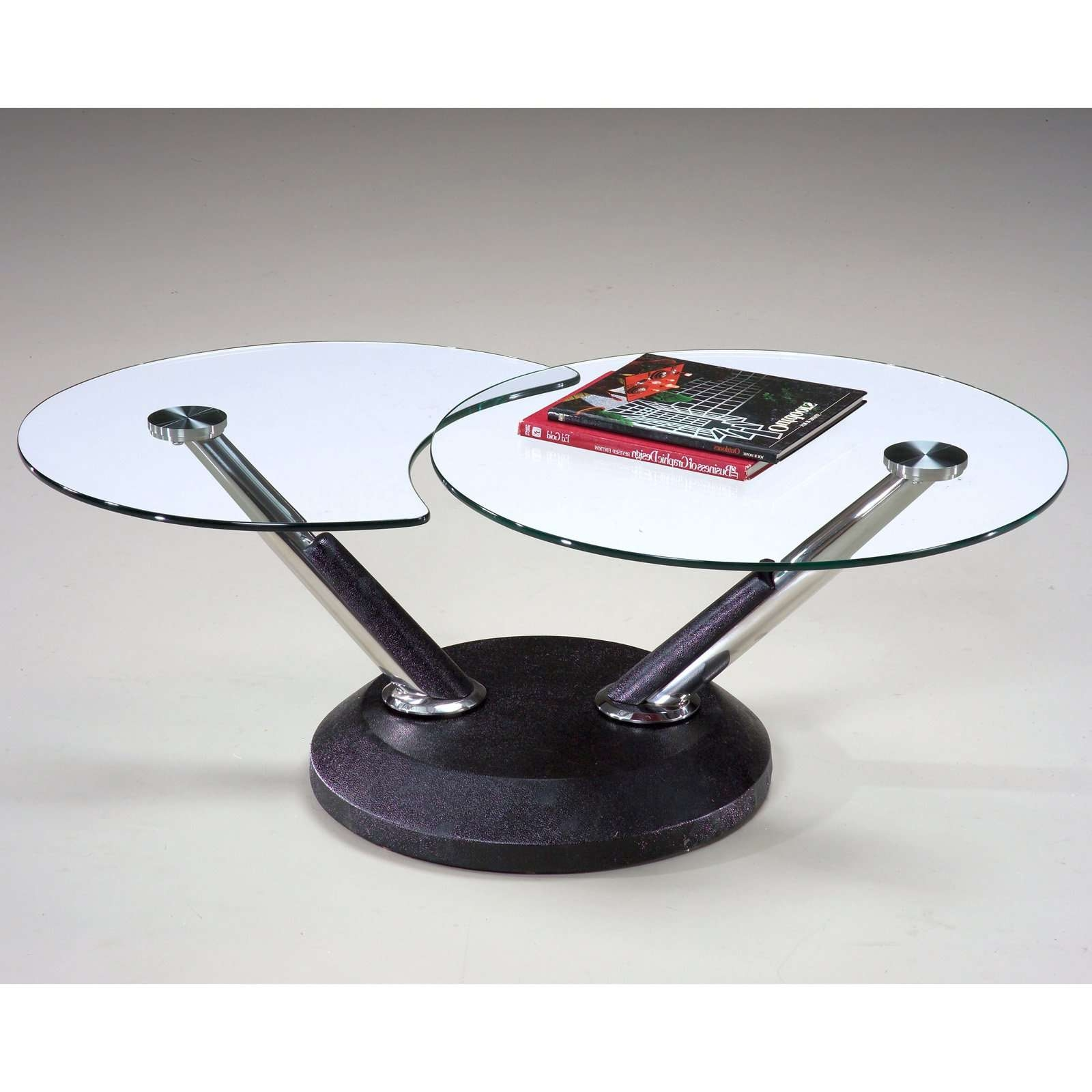 Magnussen 38000 Modesto Metal And Glass Swivel Coffee Table In Widely Used Tables