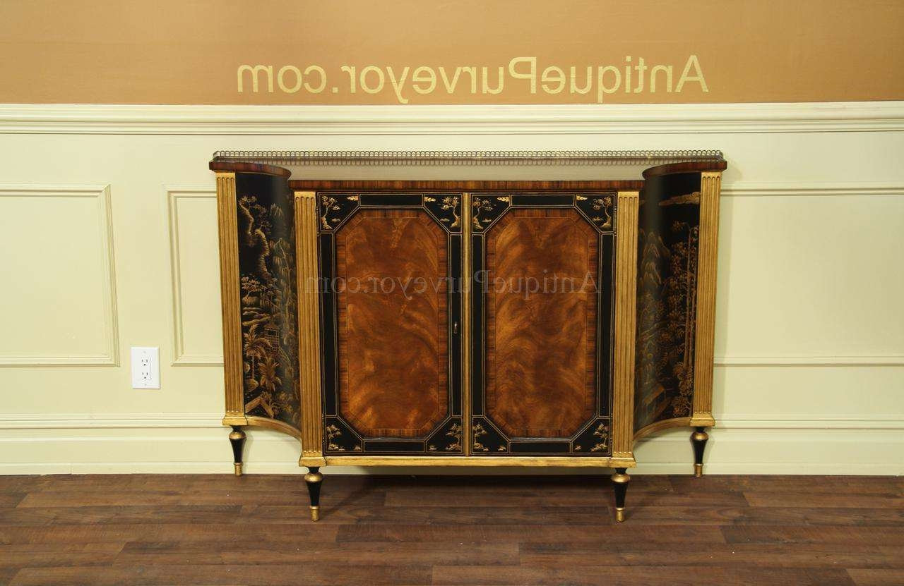 Mahogany And Rosewood Dining Room Buffet |gold And Black Accents Throughout Server Sideboards Furniture (View 14 of 20)